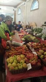 Shopping at Still Life Farm stall at the Roslindale Market
